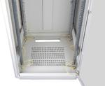 """TFR-246060-GMMM-GY Напольный шкаф 19"""", 24U, стеклянная дверь, Ш600хВ1265хГ600мм, в разобранном виде, серый"""
