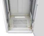"""TFL-426010-GMMM-BK Напольный шкаф 19"""", 42U, стеклянная дверь, Ш600хВ2080хГ1000мм, в разобранном виде, черный"""