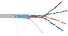 EC-UF004-5E-PVC-GY Кабель NETLAN F/UTP 4 пары, Кат.5e, BC (чистая медь), внутренний, серый, 305м