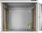 """TWC-155360-G-W-GY Настенный шкаф 19"""", 15U, стеклянная дверь, Ш530хВ732хГ600мм, цельносварной, серый"""
