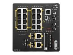 IE-2000-16TC-G-E Коммутатор IE 16 10/100,2 FE SFP+2 T/SFP, Base with 1588