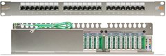 "NMC-RP24SD2-1U-MT Коммутационная панель NIKOMAX 19"", 1U, 24 порта, Кат.5e (Класс D), 100МГц, RJ45/8P8C, 110/KRONE, T568A/B, полный экран"