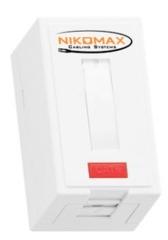 NMC-WO1UE2-FT-ST-WT Настенная розетка NIKOMAX, 1 порт, Кат.6