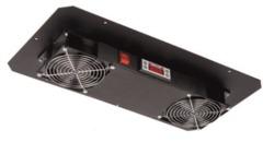TLK-FAN2-BK Вентиляторный блок TLK для настенных шкафов серии TWC, 2 вентилятора, без шнура питания, черный