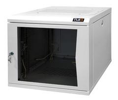 """TWC-095350-G-W-GY Настенный шкаф 19"""", 9U, стеклянная дверь, Ш530хВ466хГ500мм, цельносварной, серый"""