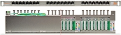 "NMC-RP24SD2-HU-MT Коммутационная панель NIKOMAX 19"", 0,5U, 24 порта, Кат.5e (Класс D), 100МГц, RJ45/8P8C, 110/KRONE, T568A/B, полный экран"
