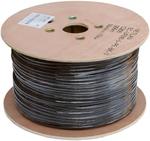 EC-UF010-5-PE-BK-3 Кабель NETLAN F/UTP 10 пар, Кат.5 , BC (чистая медь), внешний, PE до -40C, черный, 305м