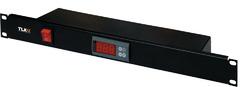 TLK-FAN2-TERM-BK Вентиляторный блок TLK для настенных шкафов серии TWC, 2 вентилятора с терморегулятором и датчиком, без шнура питания, черный