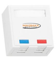 NMC-WO2SD2-FT-ST-WT Настенная розетка NIKOMAX, 2 порта, Кат.5e
