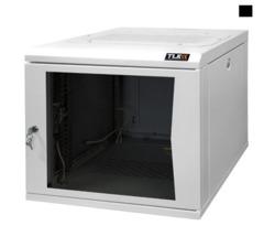 """TWC-065350-G-W-BK Настенный шкаф 19"""", 6U, стеклянная дверь, Ш530хВ333хГ500мм, цельносварной, черный"""