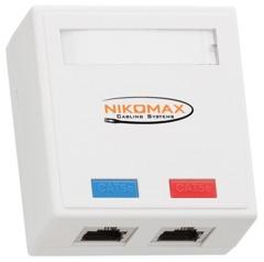 NMC-WO2SD2-WT Настенная розетка NIKOMAX, 2 порта, Кат.5e