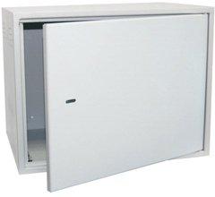 EC-WS-126060-GY Настенный антивандальный шкаф сейфового типа, 12U, Ш600хВ600хГ600мм, серый
