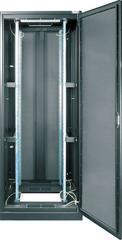 """TFE-246010-GPPP-BK Серверный шкаф 19"""", 24U, стеклянная дверь, перфорированные стенки, Ш600хВ1309хГ1000мм, в разобранном виде, черный"""