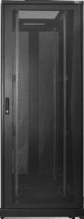 """TFE-428010-GPPP-BK Серверный шкаф 19"""", 42U, стеклянная дверь, перфорированные стенки, Ш800хВ2101хГ1000мм, в разобранном виде, черный"""