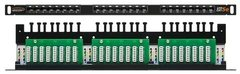 "NMC-RP24UD2-HU-BK Коммутационная панель NIKOMAX 19"", 0,5U, 24 порта, Кат.5e (Класс D), 100МГц, RJ45/8P8C, 110/KRONE, T568A/B, неэкранированная"