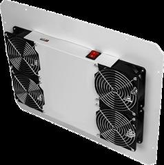 TLK-FAN4-F-GY Вентиляторный блок TLK для напольных шкафов серий TFR, TFL, 4 вентилятора, нижние решетки пластиковые с фильтром, без шнура питания, серый