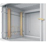 "TWA-126062-G-GY Настенный двухсекционный шкаф 19"", 12U, стеклянная дверь, Ш600хВ599хГ620мм, серый"