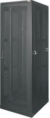 """TFE-246010-PPPP-BK Серверный шкаф 19"""", 24U, перфорированные дверь и стенки, Ш600хВ1309хГ1000мм, в разобранном виде, черный"""