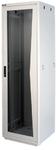 """TFR-426080-GMMM-BK Напольный шкаф 19"""", 42U, стеклянная дверь, Ш600хВ2065хГ800мм, в разобранном виде, черный"""