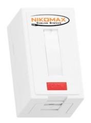 NMC-WO1SD2-FT-ST-WT Настенная розетка NIKOMAX, 1 порт, Кат.5e