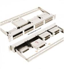 """NMC-RP08-BLANK-CJ-1U-MT Коммутационная панель NIKOMAX 19"""", 1U, кассетная, 8 слотов под кассетные модули серии CJ, UTP/STP"""