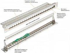 "NMC-RP24-BLANK-1U-MT Коммутационная панель NIKOMAX 19"", 1U, наборная, под 24 модуля Keystone, UTP/STP"