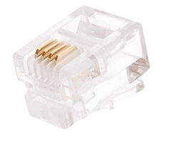 NMC-RJ64RE06UC1-100 Коннектор NIKOMAX RJ11/6P4C телефонный, Кат.3 (Класс C), 16МГц, покрытие 6мкд, под многожильный кабель, неэкранированный, уп-ка 100шт.