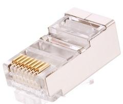 NMC-RJ88RZ50SE1-100 Коннектор NIKOMAX RJ45/8P8C под витую пару, Кат.6 (Класс E), 250МГц, покрытие 50мкд, универсальные ножи, экранированный, уп-ка 100шт.