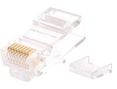 NMC-RJ88RZ50UD2-100 Коннектор NIKOMAX RJ45/8P8C под витую пару, Кат.5e (Класс D), 100МГц, покрытие 50мкд, универсальные ножи, неэкранированный, со вставкой, уп-ка 100шт.