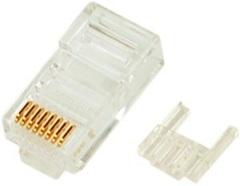 NMC-RJ88RZ50UE3-100 Коннектор NIKOMAX RJ45/8P8C под витую пару, Кат.6 (Класс E), 250МГц, покрытие 50мкд, универсальные ножи, неэкранированный, со вставкой, уп-ка 100шт.