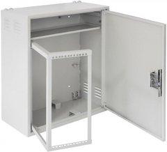 EC-WS-045928-GY Настенный антивандальный шкаф с поворотной рамой, 4U, Ш580хВ590хГ280мм, серый