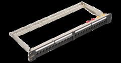 "NMC-RP24-LS-1U-MT Коммутационная панель NIKOMAX для системы мониторинга, 19"", 1U, наборная, под 24 модуля типа Keystone серии LS, UTP/STP"