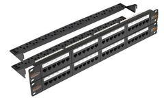 "NMC-RP48UD2-2U-BK Коммутационная панель NIKOMAX 19"", 2U, 48 портов, Кат.5e (Класс D), 100МГц, RJ45/8P8C, 110/KRONE, T568A/B, неэкранированная"