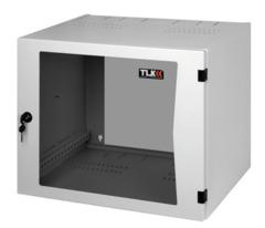 "TWP-155442-G-GY Настенный двухсекционный шкаф 19"", 15U, стеклянная дверь, Ш540хВ705хГ420мм, серый"