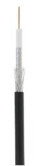 UEC-C2-32123B-BK-3 Кабель ULAN коаксиальный, RG-6 (75 Ом), одножильный, CCS (омедненная сталь), внешний, PE до -40C, черный, 305м
