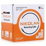 NKL 9140A-IY Кабель NIKOLAN U/UTP 4 пары, Кат.6, BC (чистая медь), внутренний, слоновая кость, 305м
