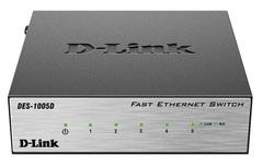 Коммутатор неуправляемый D-link DES-1005D/O2A