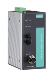 Медиа-конвертер MOXA PTC-101-M12-S-ST-LV-T