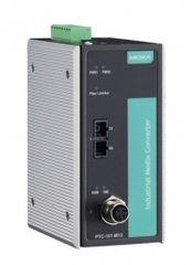 Медиа-конвертер MOXA PTC-101-M12-S-SC-LV-T
