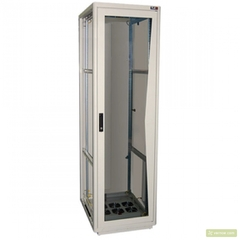 """TFL-246080-GMMM-GY Напольный шкаф 19"""", 24U, стеклянная дверь, Ш600хВ1280хГ800мм, в разобранном виде, серый"""