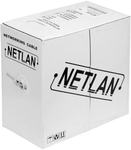 EC-EN-UU002-5-PVC-GY Кабель NETLAN U/UTP 2 пары, Кат.5, BC (чистая медь), внутренний, серый, 305м