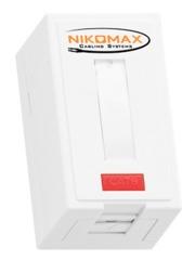NMC-WO1SE2-FT-ST-WT Настенная розетка NIKOMAX, 1 порт, Кат.6