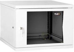 "TWP-095442-G-GY Настенный двухсекционный шкаф 19"", 9U, стеклянная дверь, Ш540хВ439хГ420мм, серый"