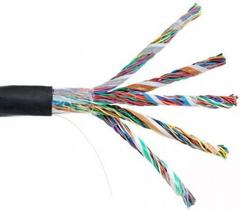 EC-UU050-5-PE-BK-3 Кабель NETLAN U/UTP 50 пар, Кат.5 , BC (чистая медь), внешний, PE до -40C, черный, 305м
