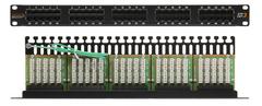 """NMC-RP50UC3-1U-BK Коммутационная панель NIKOMAX 19"""", 1U, телефонная, 50 портов, Кат.3 (Класс C), 16МГц, RJ45/8P6C, 110/KRONE"""