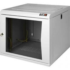 """TWC-126050-G-W-GY Настенный шкаф 19"""", 12U, стеклянная дверь, Ш600хВ599хГ500мм, цельносварной, серый"""