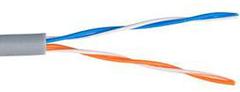 EC-EN-UU002-5-PVC-GY-5 Кабель NETLAN U/UTP 2 пары, Кат.5 , BC (чистая медь), внутренний, серый, 500м