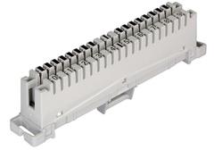NMC-PL10-CC-10 Плинт NIKOMAX 10 пар, Кат.3 (Класс C), 16МГц, контакты типа KRONE, неразмыкаемый, маркировка 0...9, крепление под кронштейн, серый, уп-ка 10шт.
