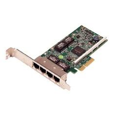 Сетевая карта DELL NIC Broadcom 5719 QP 1Gb Network Interface Card, Low Profile - Kit