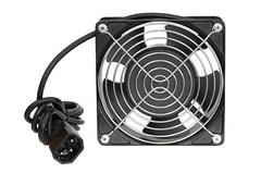 TLK-FAN1-BK Вентиляторный блок TLK для настенных шкафов серии TWS и TWI глубиной 350мм, 1 вентилятор, со шнуром питания, черный